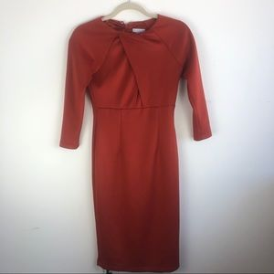 New York & Co. rust color body con dress size XS